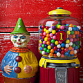 Old Clown Toy And Gum Machine  by Garry Gay