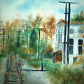 Old Cn Station Fort Langley Bc by Vivian  Mosley