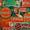 Old Coca-cola Sign Collage by Mitch Shindelbower