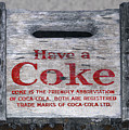 Old Coca Cola Wooden Box by Les Palenik