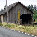 Old Cow Barn  Washington State by Laurie Kidd