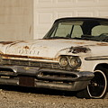 Old Desoto In Sepia by Colleen Cornelius