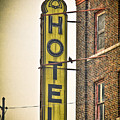 Old Detroit Hotel Sign by Scott Bert