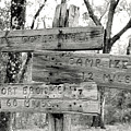 Old Directional Signs At Fort Cooper  by Debra Forand