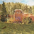 Old Dodge Truck In Garden by Anne Sands