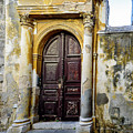 Old Door In Rhodes Town, Rhodes, Greece by Global Light Photography - Nicole Leffer