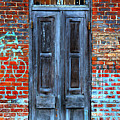 Old Door With Bricks by Perry Webster