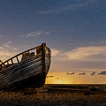 Old Dungeness Fishing Boat Under The Stars by David Attenborough