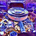 Old Engine Of American Car by Jeelan Clark