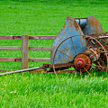 Old Farm Equipment by Robert Barnes