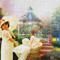 Old Fashion Child Strolling by Trudy Wilkerson