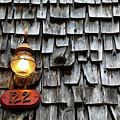 Old Fashioned Lamp And Wooden Shingles Frederick Maryland by James Brunker