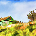 Old Fisherman's House On The Hill by Mariia Kalinichenko