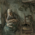 Old Fisherwoman by Jozef Israels