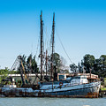 Old Fishing Boat In Port by JG Thompson