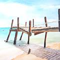 Old Fishing Pier Watercolor by Carlin Blahnik CarlinArtWatercolor