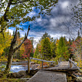 Old Footbridge Over The Moose River by David Patterson
