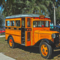 Old Ford School Bus No. 32 by Ginger Wakem