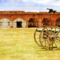 Old Fort And Cannon Still Liife by Lynne Daley