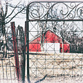 Old Gate Red Barn View by Anna Louise