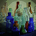 Old Glass Bottles by Eileen Blair