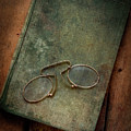 Old Glasses And Old Green Book by Jaroslaw Blaminsky