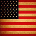 Old Glory . Square by Wingsdomain Art and Photography