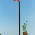 Old Glory And Lady Liberty by Mark Fuller