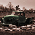 Old Green Truck by Chris Fleming