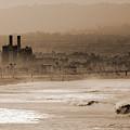 Old Hermosa Beach by Ed Clark