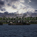 Old Highway 41 Swing Bridge Over The Wando River In Charleston Sc by Dale Powell