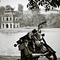 Old Honda In Hanoi by Dave Bowman