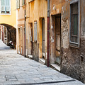 Old Houses On Narrow Street In Villefranche-sur-mer by Elena Elisseeva