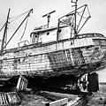 Old Icelandic Fishing Ship In Dry Dock by Edward Fielding