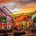 Old Irish Town The Dingle Peninsula Late Sunset by Debra and Dave Vanderlaan