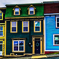 Old Jellybean Row Houses by Gord Follett