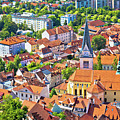 Old Ljubljana Cityscape Aerial View by Brch Photography
