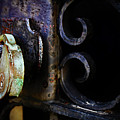 Old Lock On A Cast Iron Gate by Don Baker