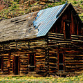 Old Log Cabin-barn by Marilyn Burton