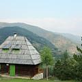 Old Log Cabin On Mountain Landscape by Goce Risteski