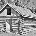 Old Log Cabin Schoolhouse by Kim Bemis