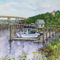 Old Lyme Boat Yard At The Dep by B Rossitto