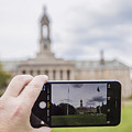 Old Main Through Iphone  by John McGraw