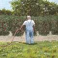 Old Man In Garden by Don Lindemann
