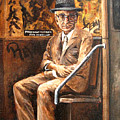 Old Man In Subway by Leonardo Ruggieri