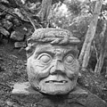 Old Man Of Copan Sculpture, Also Known As The Pauahtun Head From by The Harrington Collection