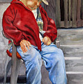 Old Man Resting by Libby  Cagle