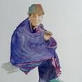 Old Man Smoking by Aurelia Sieberhagen
