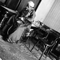 Old Man Smoking by Mina Milad