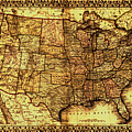 Old Map United States by Lucia Sirna